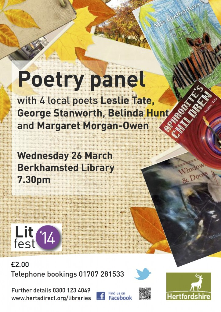 A4 poetry panel